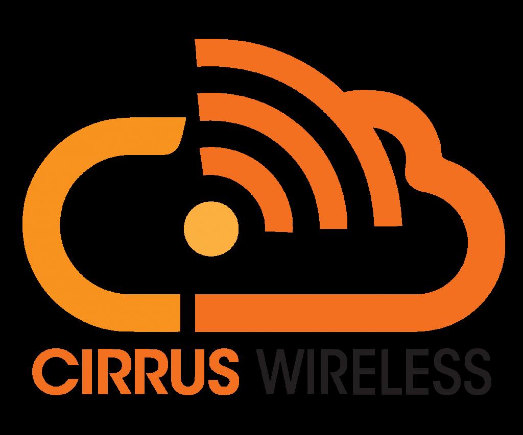 Cirrus Wireless logo with a Wi-Fi symbol inside a cloud.